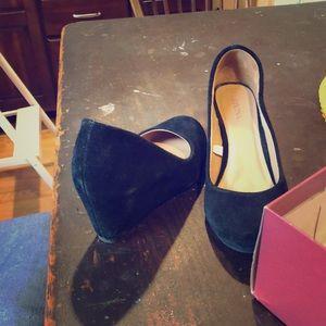 black leather merona heels